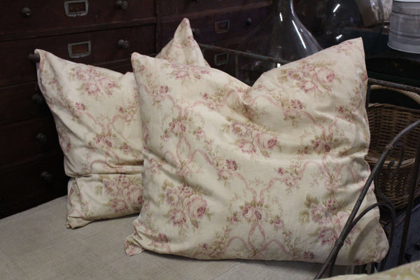 Handmade Cushions with Antique Fabric