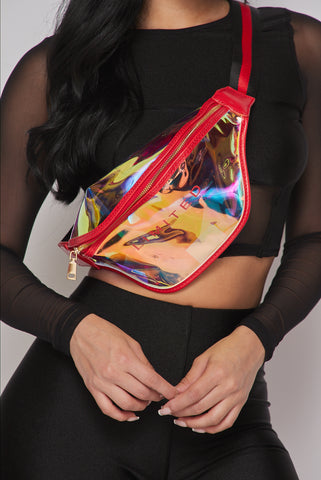 Image of Red Hologram Fanny Pack