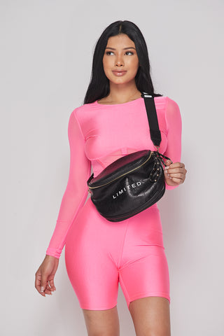 Image of Black Bold Strap Fanny Pack