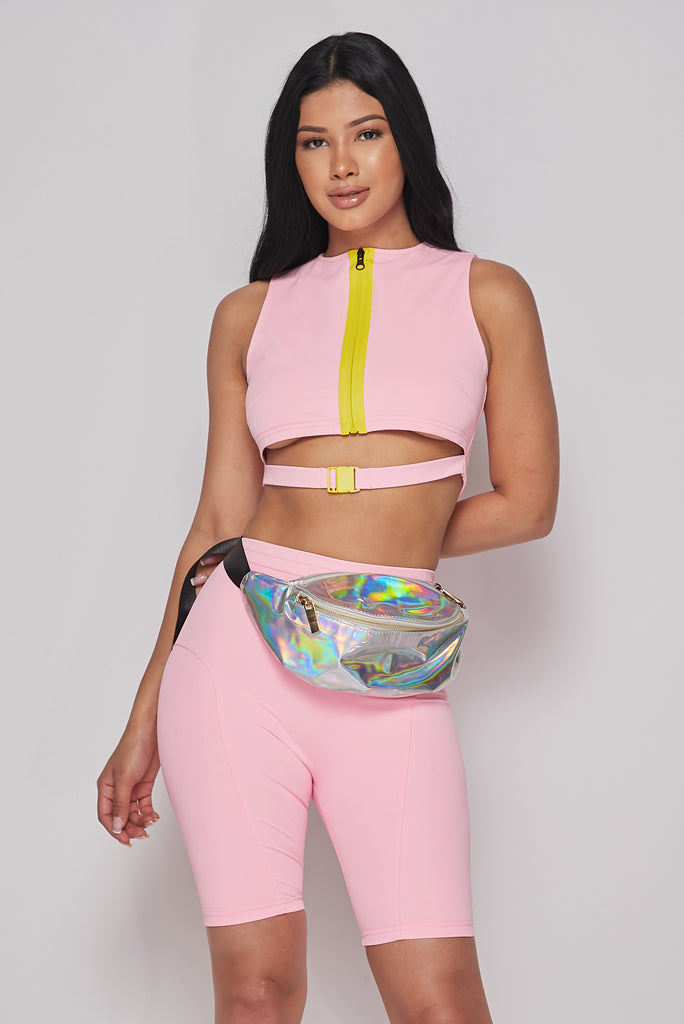 Iridescent Glossy Fanny Pack