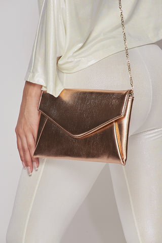 Rose Gold Envelope Purse