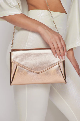 Image of Rose Gold Envelope Purse