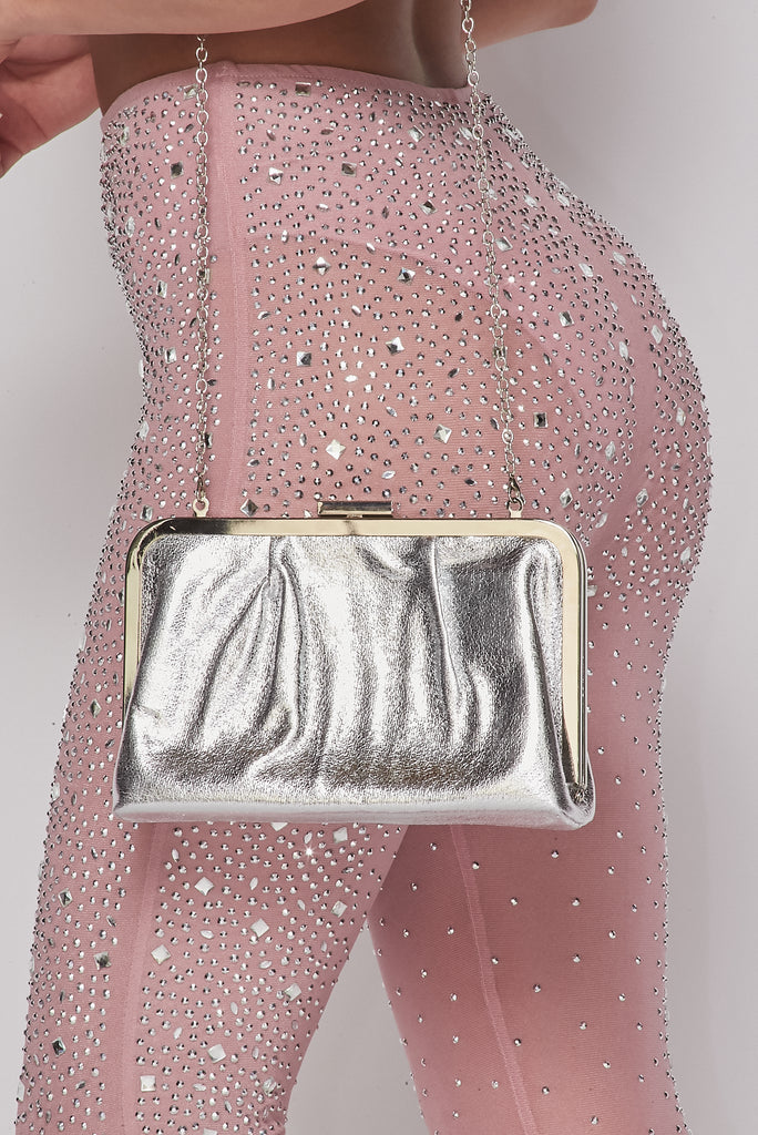Silver Chic Glossy Purse