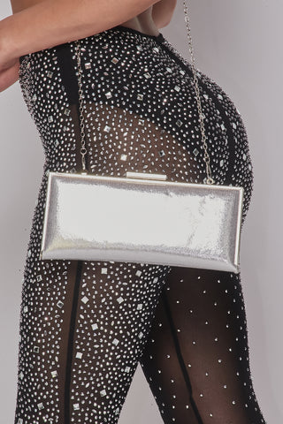 Image of Silver Chic Hard Shell Purse