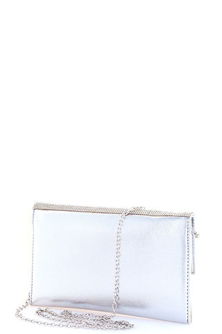 Image of Silver Rhinestone Purse