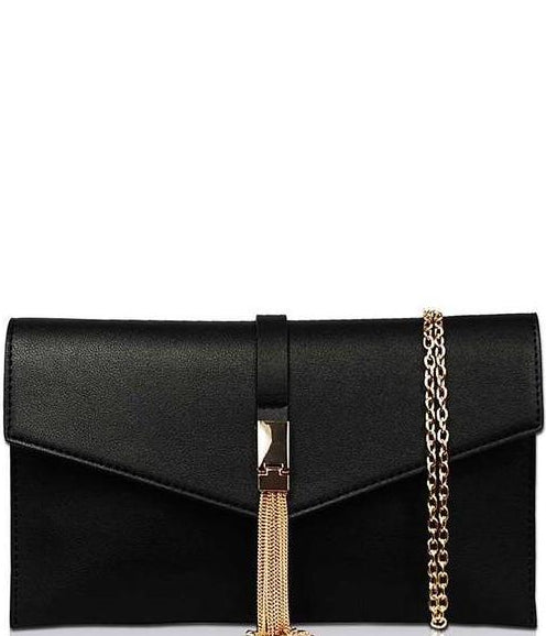 Black Chain Accent Purse