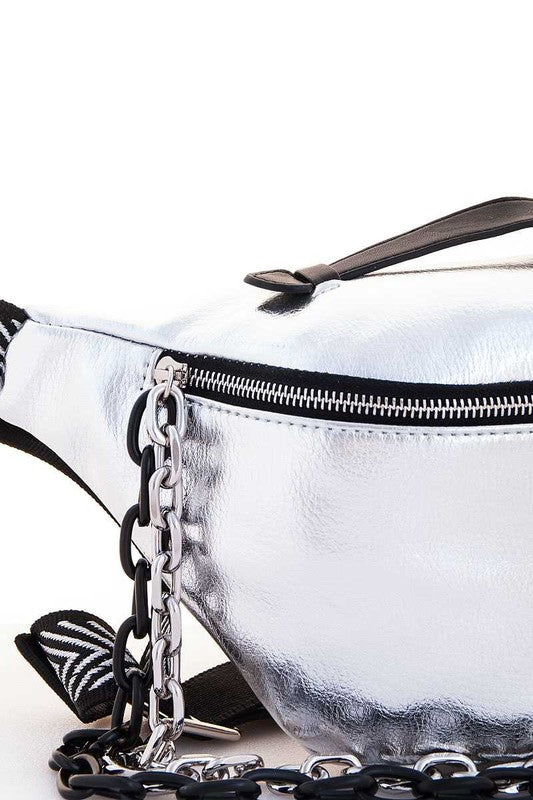 Silver Chain Fanny Pack