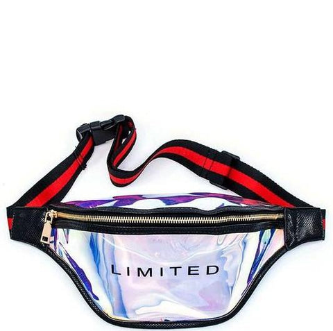 Black Hologram Fanny Pack