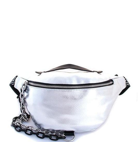 Image of Silver Chain Fanny Pack