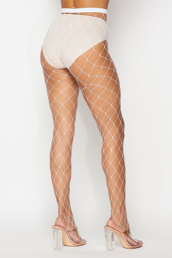 Large Rhinestone Fishnets