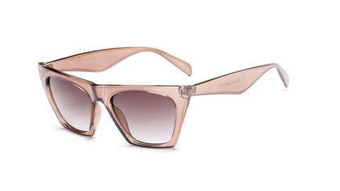 Image of Tan Cat Eye Sunglasses