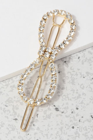 Rhinestone Bow Hair Pin