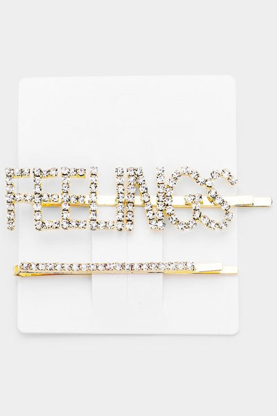 2-Piece Feelings Hair Pin Set