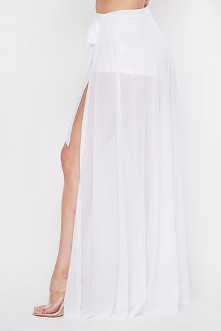 Amora Cover Up Skirt - White