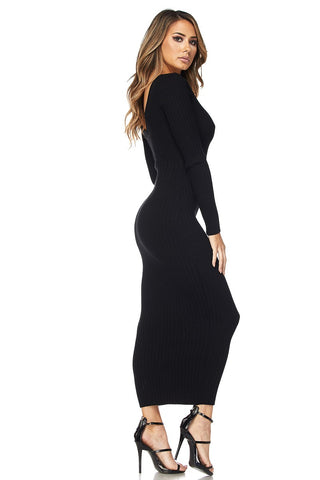 Image of Black Midi Dress