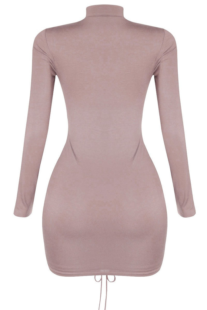 Eva Mini Dress - Taupe