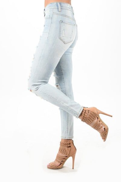 Skinny Light Wash Denim