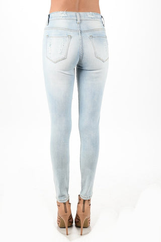 Image of Skinny Light Wash Denim