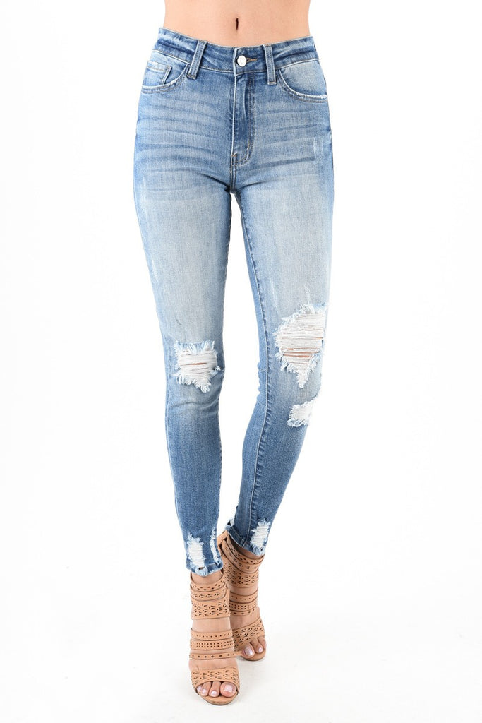 Skinny Distressed Denim