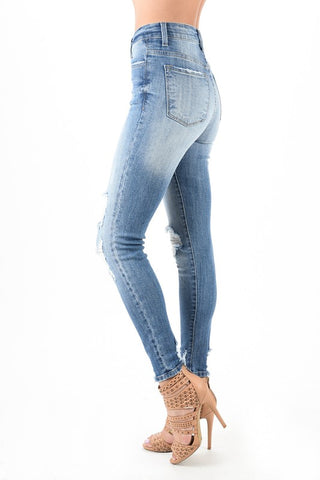 Image of Skinny Distressed Denim