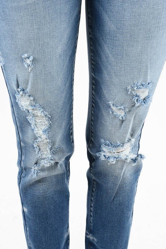 Girlfriend Distressed Jeans