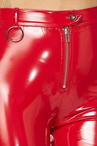 Image of Red Latex Pants