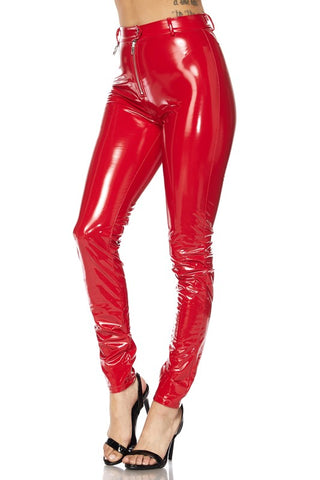 Red Latex Pants