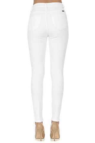 Image of High Rise White Jeans