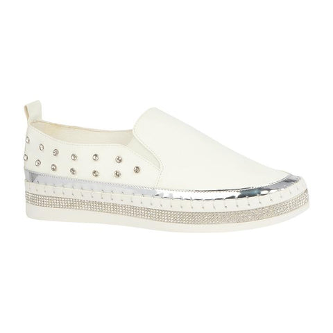 Image of Slip-On Rhinestone Studded Sneakers