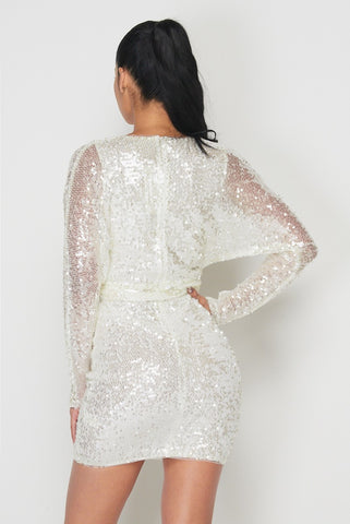 Image of Pearl Sequin Mini Dress