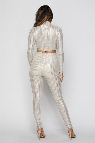 2-Piece Sequin Set