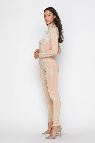 Image of Nude Pearl Jumpsuit