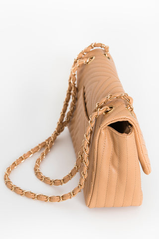 Chic Stitched Shoulder Bag