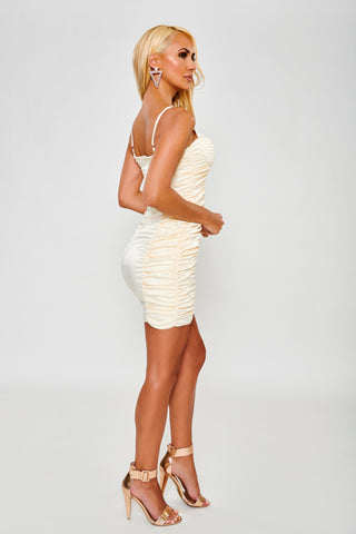 Image of Savannah Satin Dress - Ivory