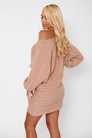 Image of Claire Sweater Dress - Nude