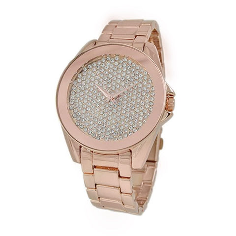 Rhinestone Rose Gold Watch