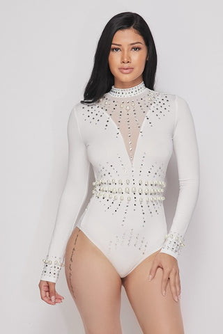 Image of Maisie Pearl Bodysuit - White