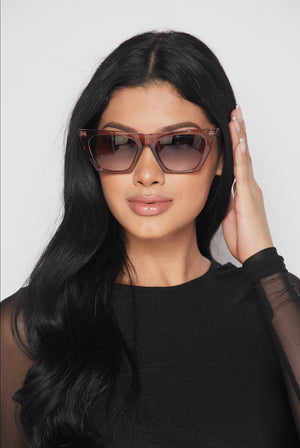 Tan Cat Eye Sunglasses