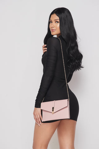 Pink Chain Accent Purse