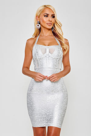 Layla Bandage Dress - Silver