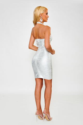 Image of Layla Bandage Dress - Silver