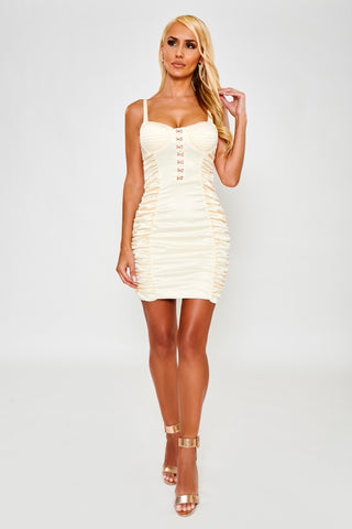Savannah Satin Dress - Ivory