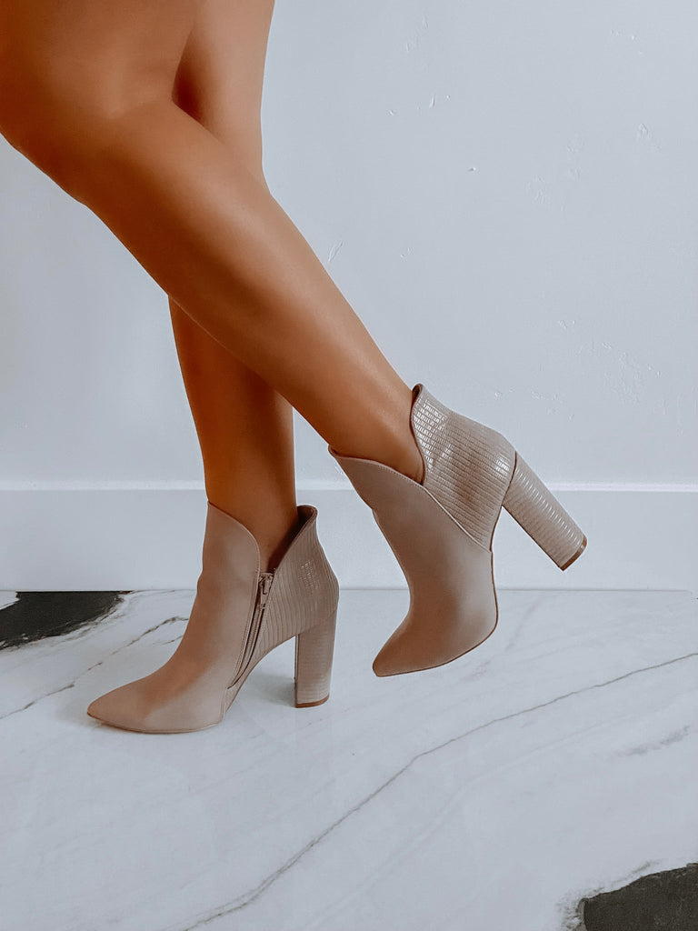 Alice Booties - Taupe