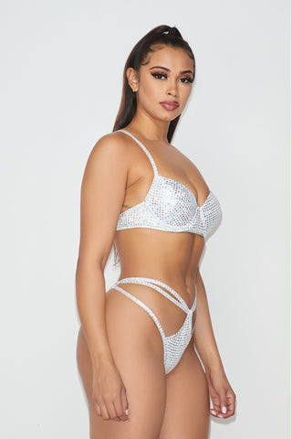 Image of Dream White Iridescent Accent Bikini