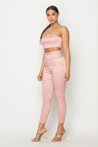 Image of 2-Piece Blush Pant Set