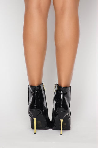 Image of Patent Leather Booties
