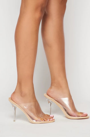 Image of Clear Stiletto Mules