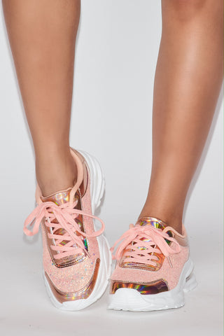 Image of Glitter Lace Sneakers