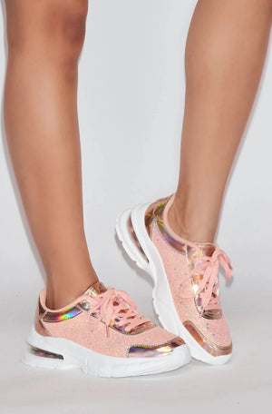 Glitter Lace Sneakers