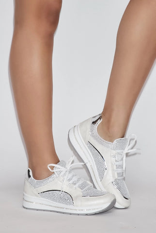 Image of Rhinestone Sneakers - White